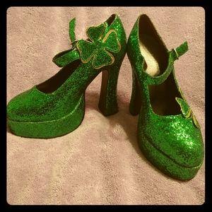 St. Patrick's day glitter shoes